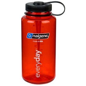 Nalgene 1L Wide Mouth Bottles Red Tritan (2023)